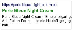 Perle Bleue Night Cream